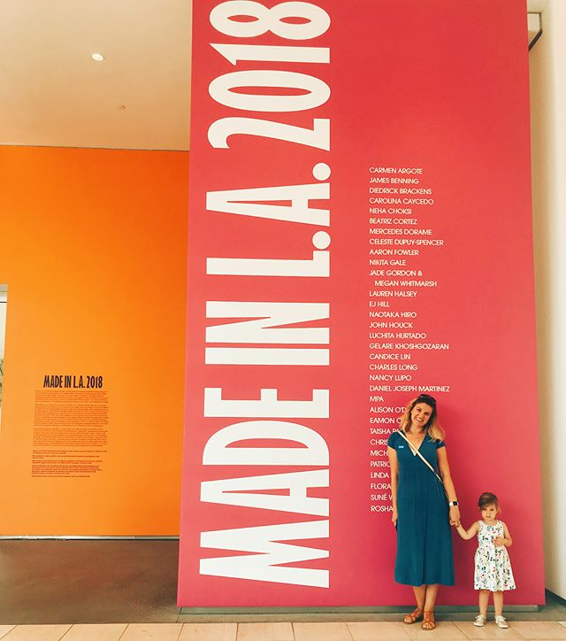 Museum-going with a (freshly minted) 3 year old is a whole new experience. M had so many questions and thoughts about the art we saw (and lots of big feelings, naturally #threenager ). It was so cool to talk about what we were seeing and share our thoughts as we walked together through the galleries. So much better than stuffing her in a stroller and having a passive experience. These little people are capable of so much!! Side note: the #madeinla2018 exhibit at the @hammer_museum is frickin awesome.. check it out if you can!