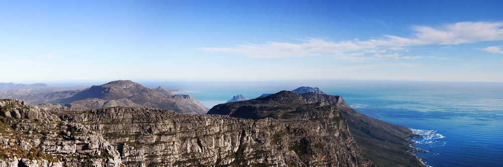"VIEW FROM TABLE MOUNTAIN   |   Image size: 36""x12""   