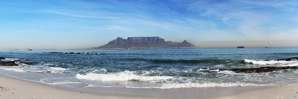 "TABLE MOUNTAIN, CAPE TOWN   |   Image size: 36""x12""   