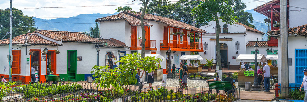 "PUEBLITO PAISA, MEDELLIN  | Image size: 36""x12""  |  300 dpi"