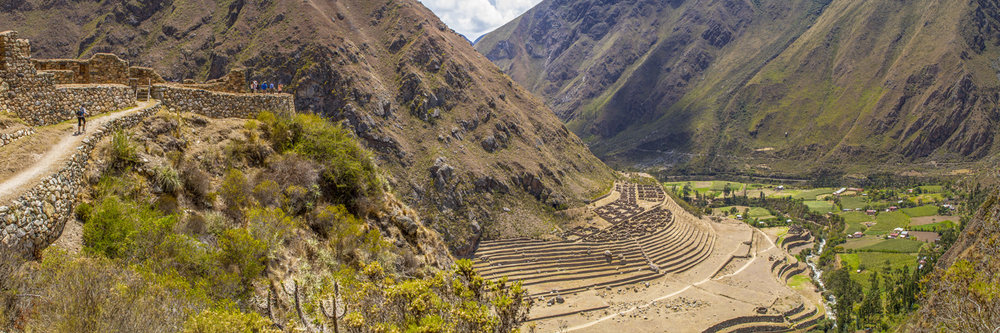 "LLACTAPATA RUINS, INCA TRAIL | Image size: 36""x12""  |  300 dpi"