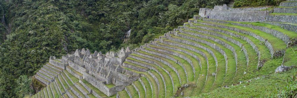 "WINAY WAYNA RUINS, INCA TRAIL  | Image size: 36""x12""  |  300 dpi"