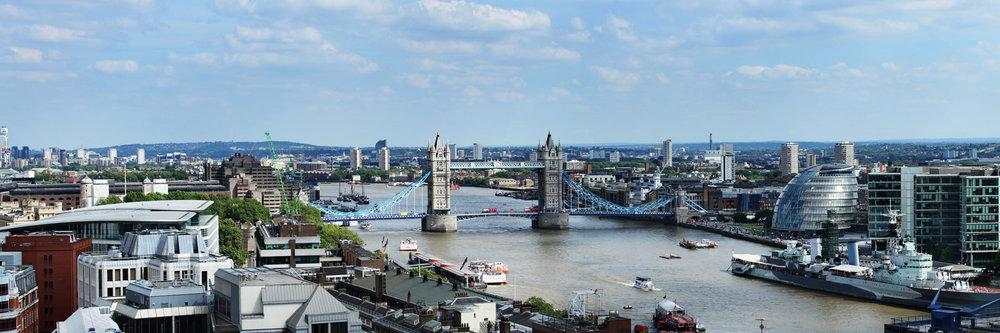 "TOWER BRIDGE  | Image size: 36""x12""  |  300 dpi"