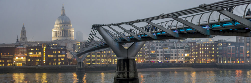 "MILENNIUM BRIDGE, LONDON   |   Image size: 36""x12""   
