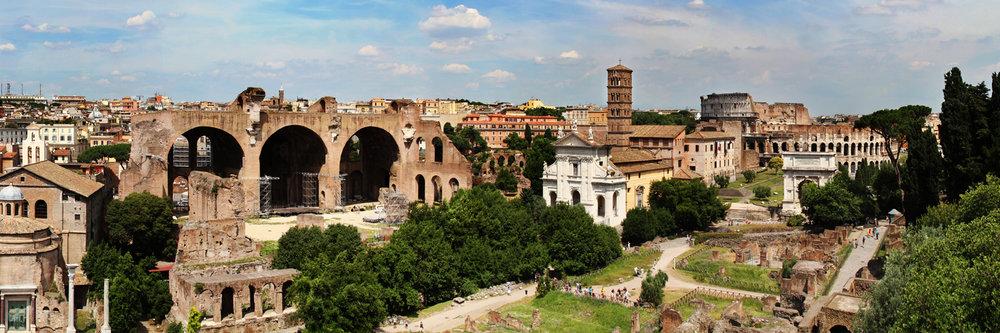 "ROMAN FORUM  | Image size: 36""x12""  |  300 dpi"