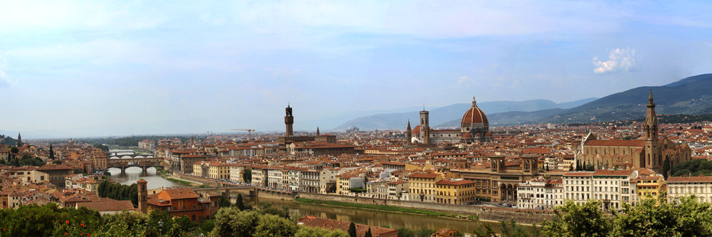 "BEAUTIFUL FLORENCE   |   Image size: 36""x12""   
