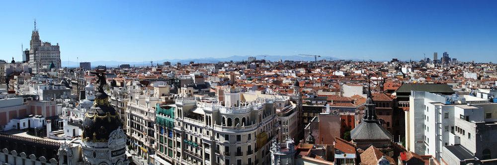 "MADRID SKYLINE  | Image size: 36""x12""  |  300 dpi"