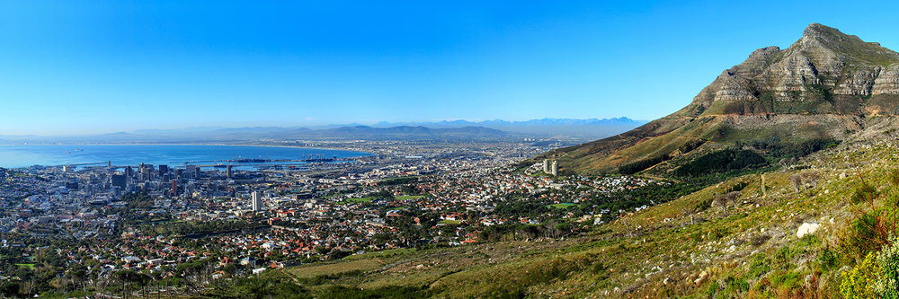 "CAPE TOWN IN THE MORNING   |   Image size: 36""x12""   