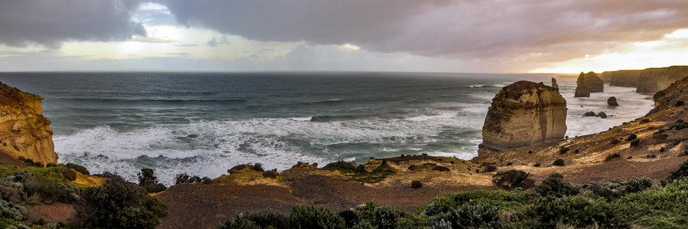 "TWELVE APOSTLES, GREAT OCEAN ROAD | Image size: 36""x12""  |  300 dpi"