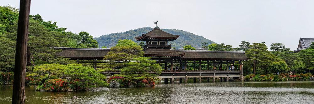 "HEIANJINGU SHRINE, KYOTO | Image size: 36""x12""  |  300 dpi"