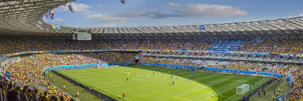 "COLOMBIA VS GREECE  | Image size: 36""x12""  |  300 dpi"