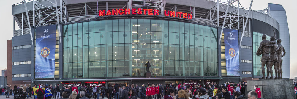 "OLD TRAFFORD STADIUM, MANCHESTER   |   Image size: 36""x12""   