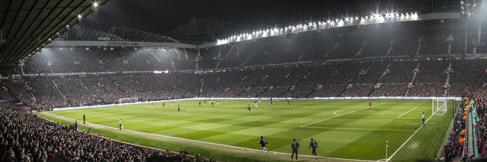 "CHAMPIONS LEAGUE MATCH AT OLD TRAFFORD   |   Image size: 36""x12""   