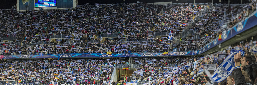 "MALAGA FANS SHOWING THEIR SUPPORT   |   Image size: 36""x12""   