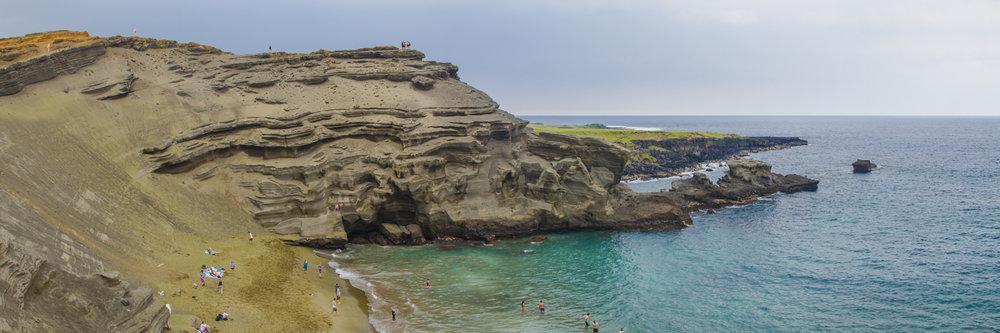 "THE GREEN SAND BEACH  | Image size: 36""x12""  |  300 dpi"