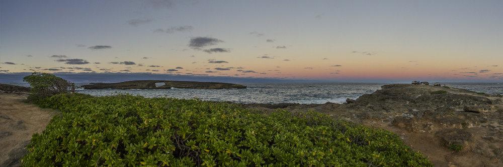 "SUNSET ON LAEI POINT 2  | Image size: 36""x12""  |  300 dpi"