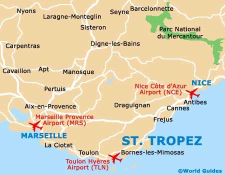 Как добраться На самолете в Сен-Тропе, ближайшие аэропорты к Сент-Тропе. Как добраться из аэропортов Ниццы, Марселя в Сент-Тропе - расписание, стоимость