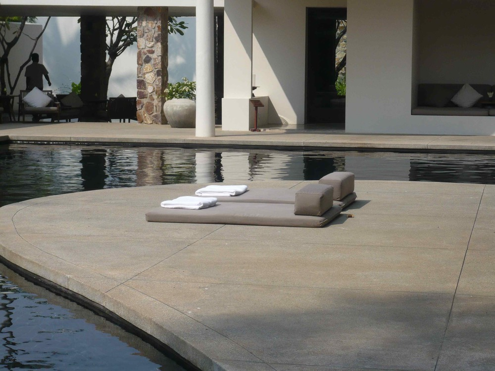 Pool side at the Amansara