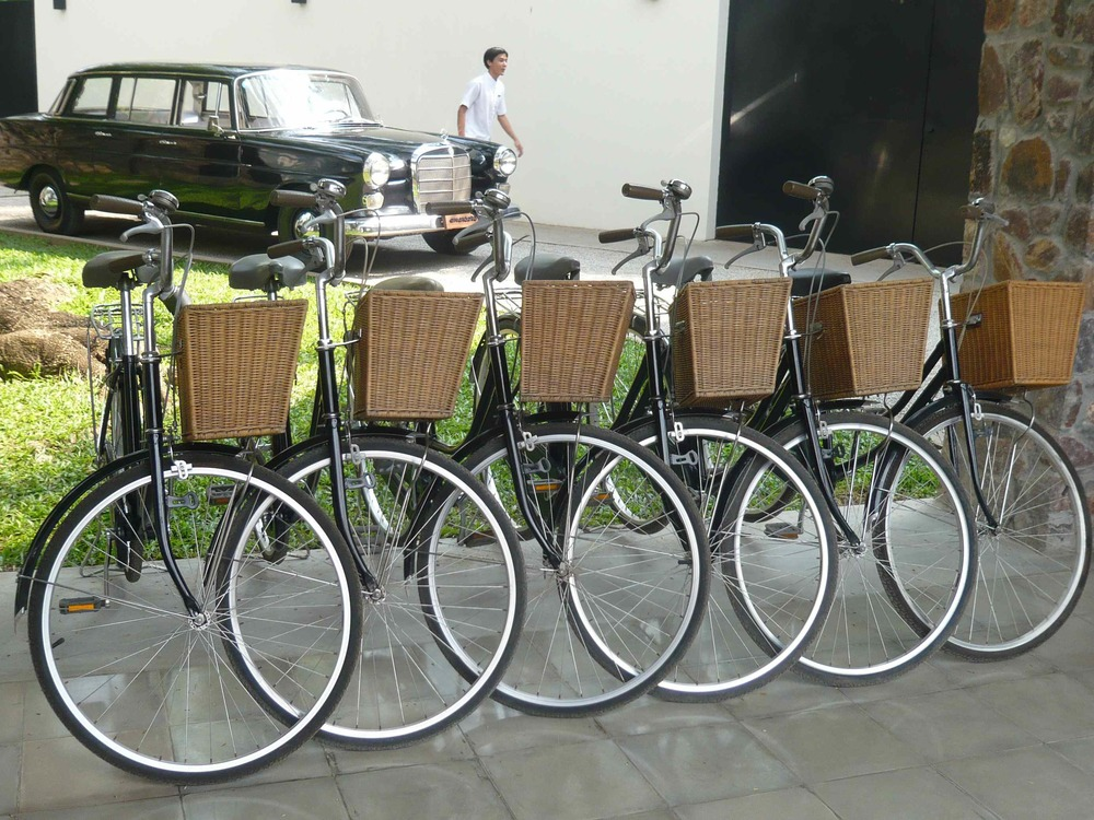 Bicycles at Amansara
