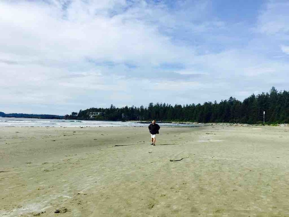 Jim on Chesterman Beach, Tofino