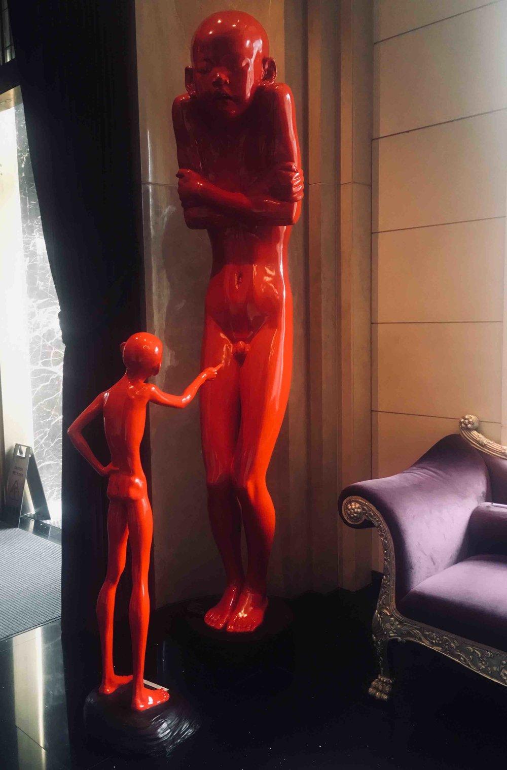 Sculptures at Eclat hotel