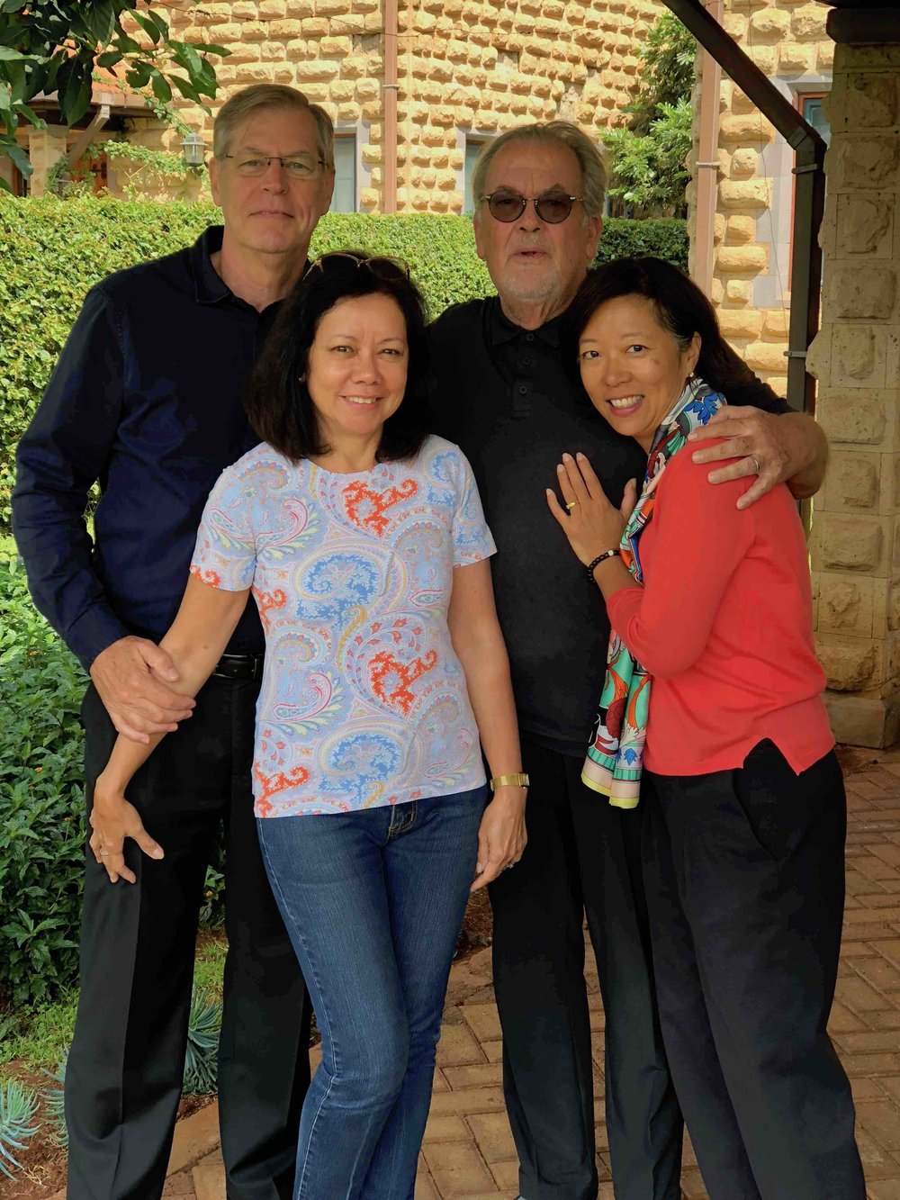 With Robert & Jenny at their home