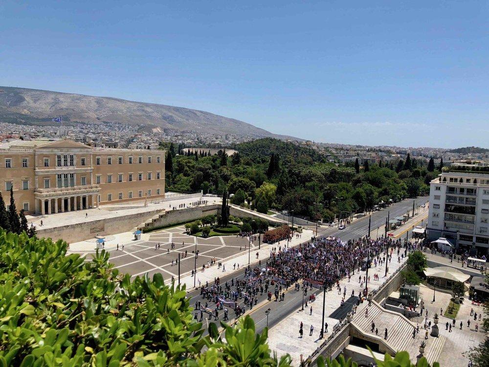 Protest in Syntagama Square