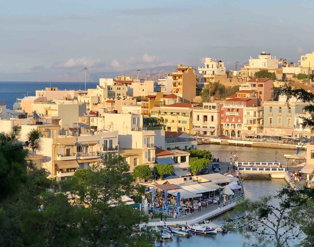 Agios Nikolaos at sunset