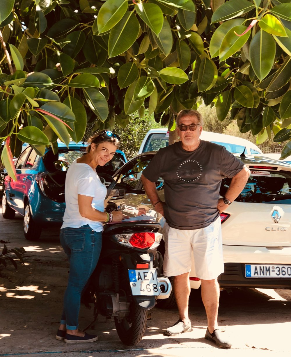 Renting new car under fig tree
