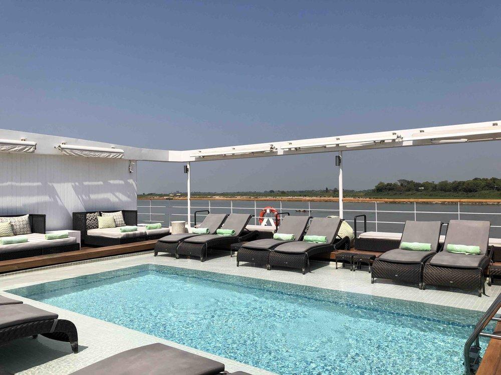 Pool on top deck