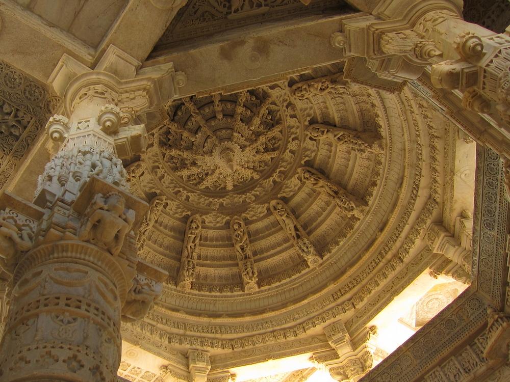 Ceiling detail of the Ranakpur Jain Temple.