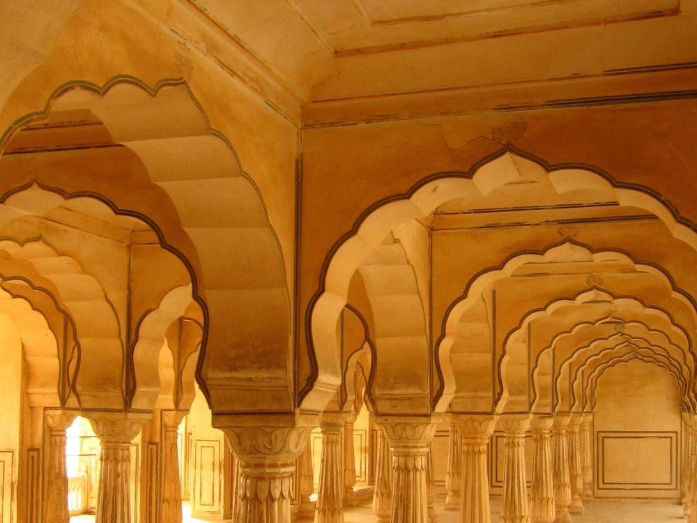 The Baradhari pavilion at Amer Fort, Jaipur.