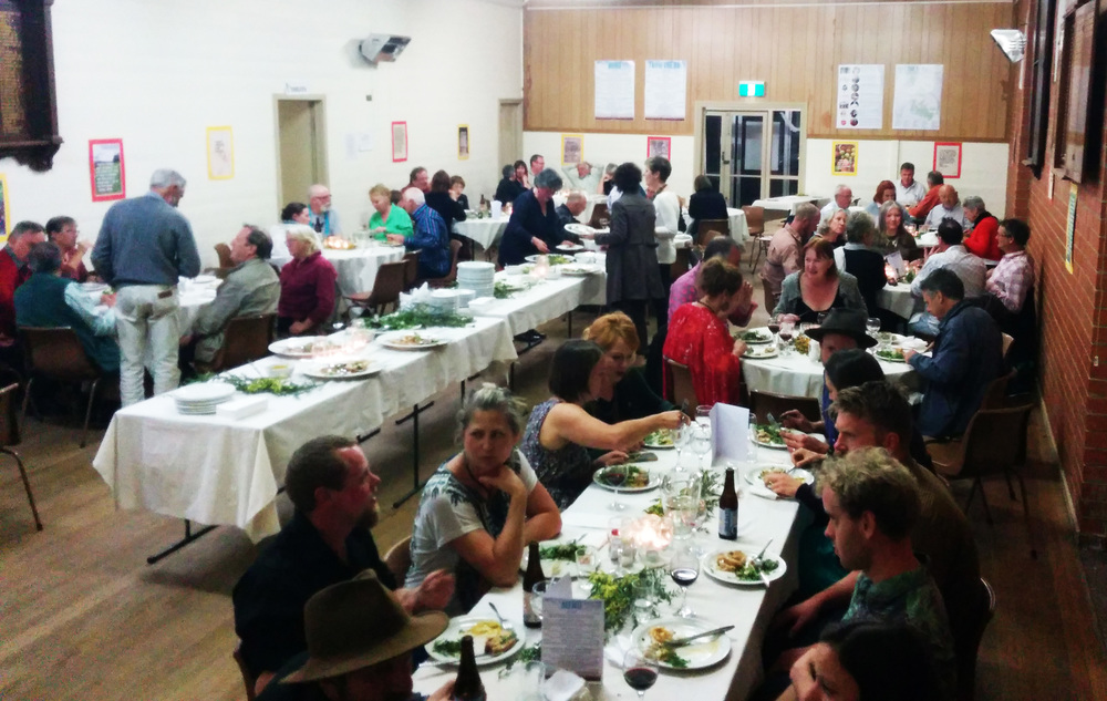 The crowd at Trentham Food Hub's 2014 Growers, Cookers & Eaters dinner