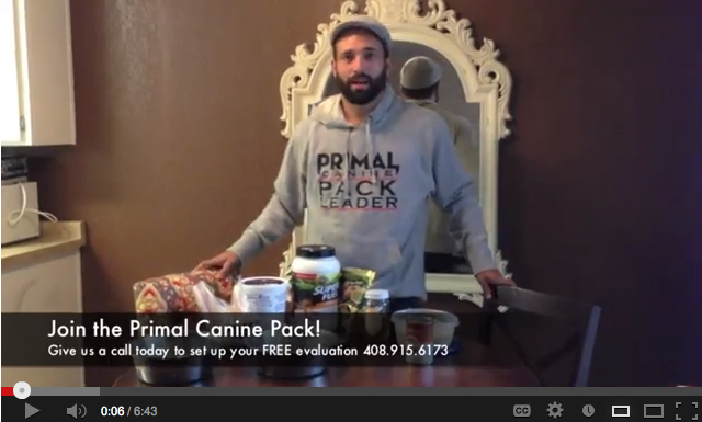 raw diet primal canine dog training