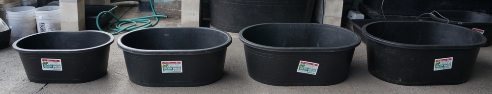 "Oval Tuff Stuff Tanks  13 gallon drum w/ lid: 20""x15"" (not photographed) 
