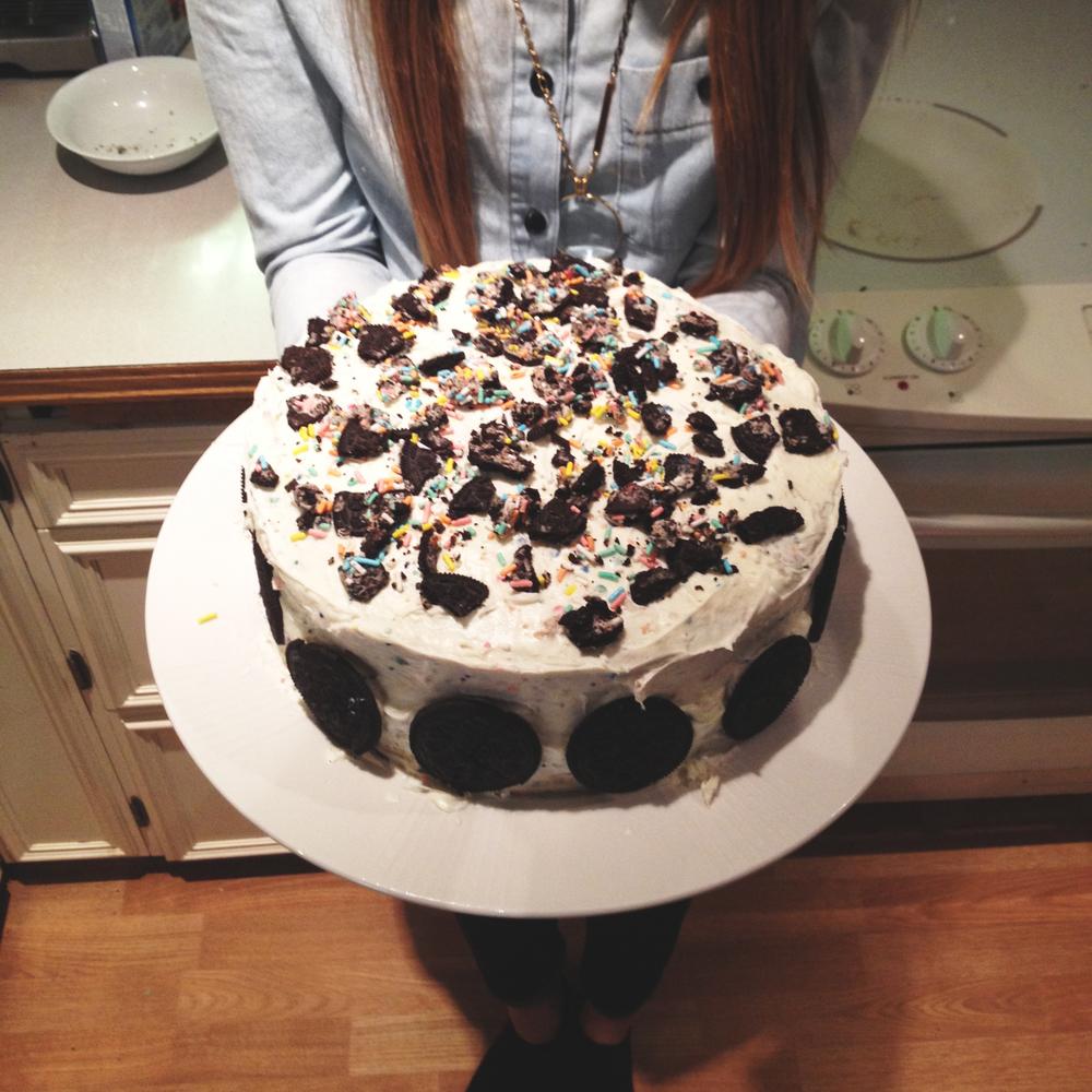 Birthday Cake Oreo Birthday Cake. #heartattack