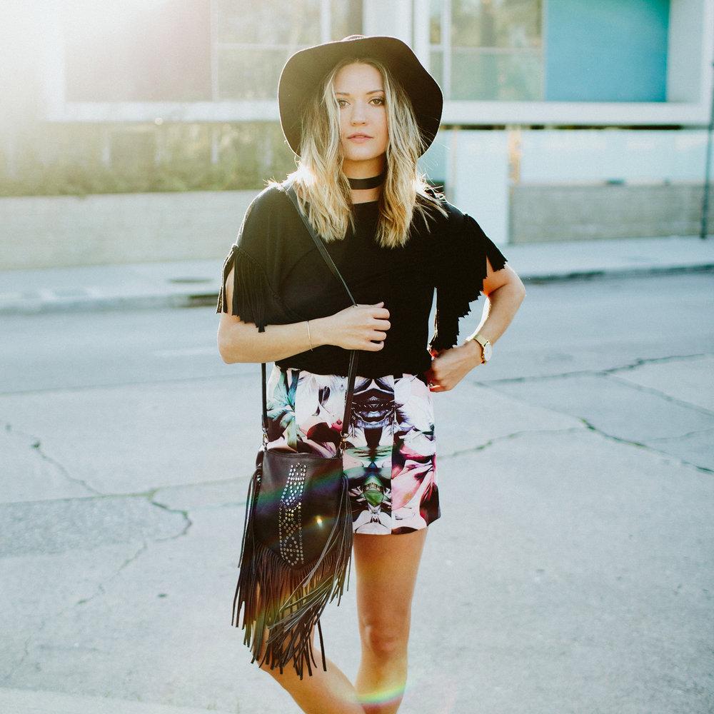 Floral Shorts + Vintage Lanvin
