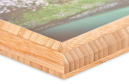 3/4 inch beveled bamboo edges