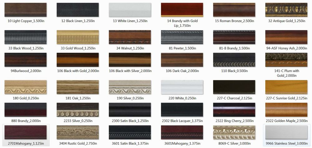 A small selection of our high quality frames