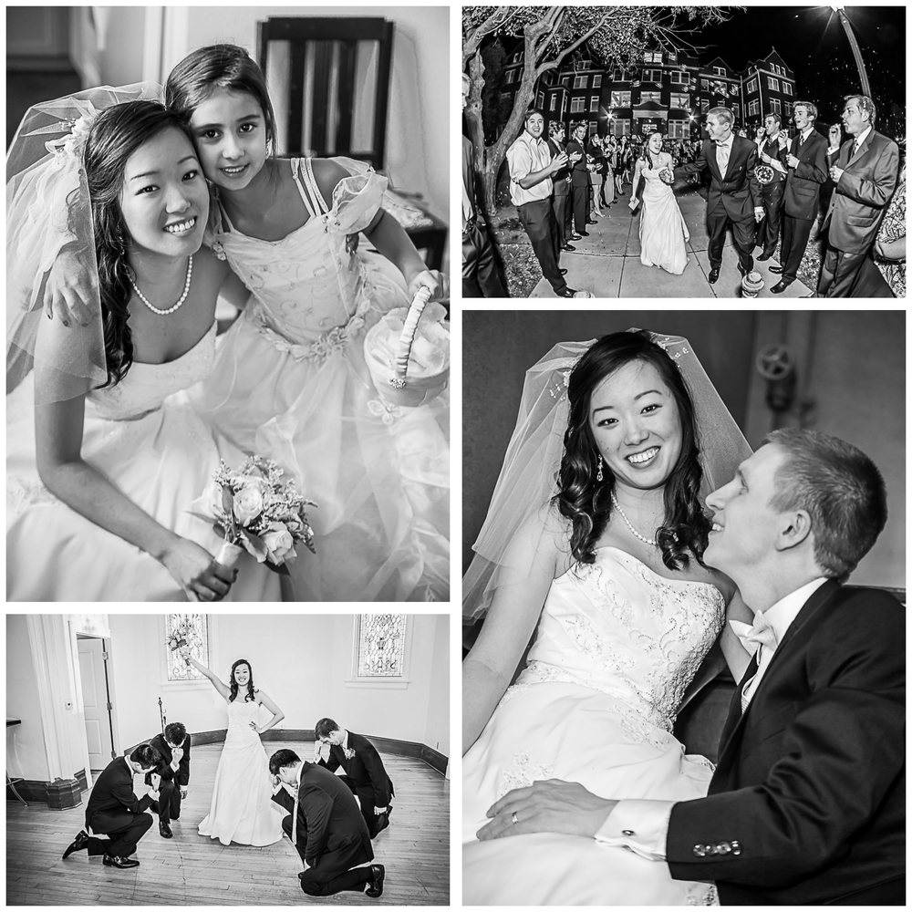 A few black and white photos from a perfect wedding day!