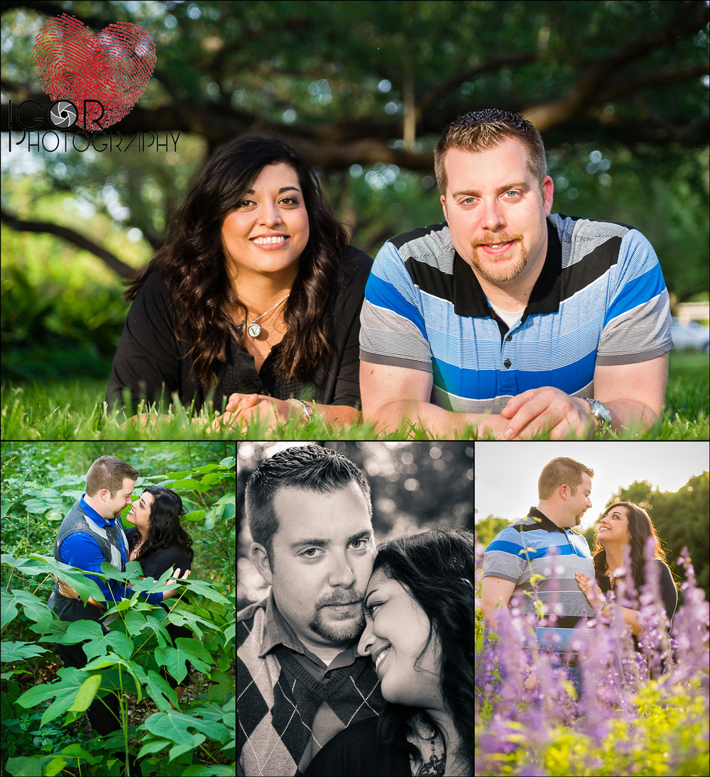Fort Worth engagement portraits at the Botanical Garden