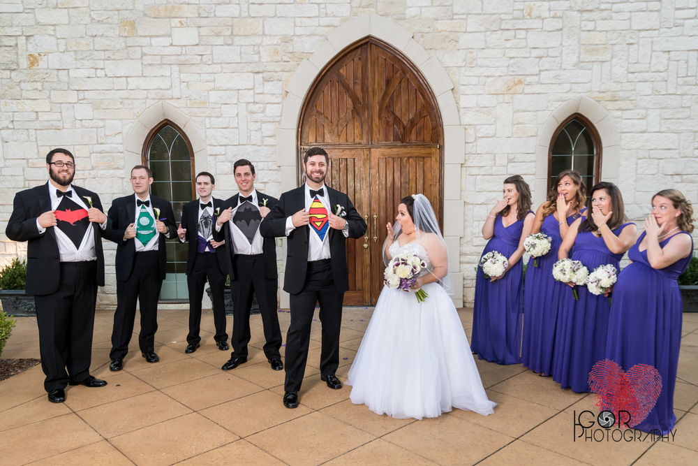 Justice League wedding party