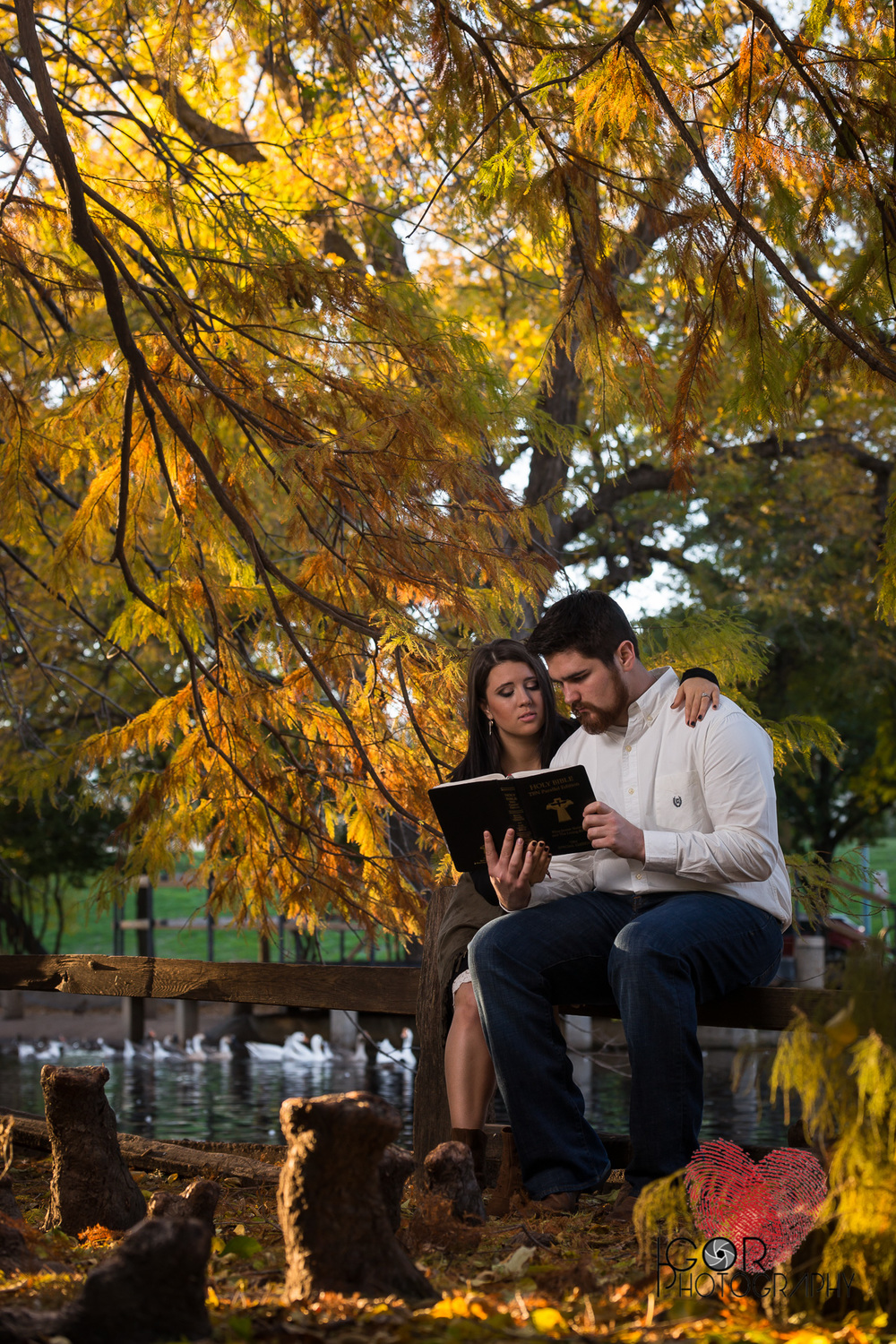 Bible engagement photo session