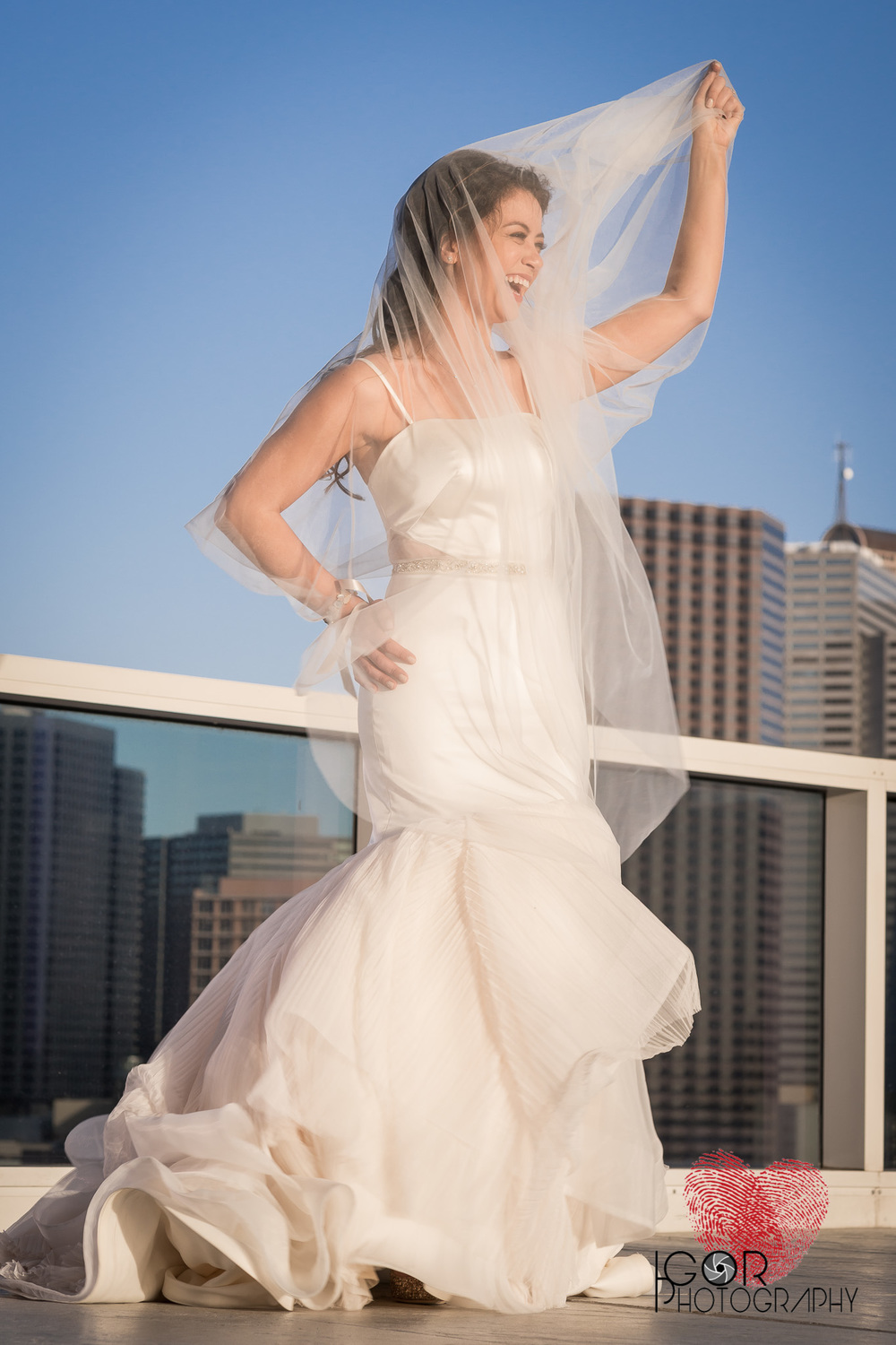 Dallas hotel bridal photos