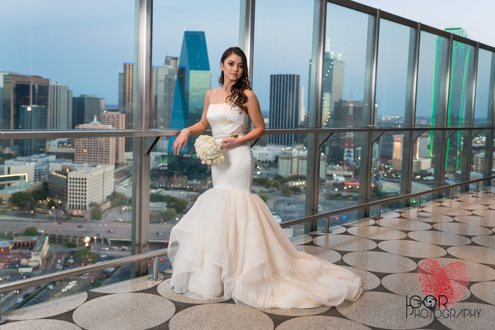 Rooftop bride session