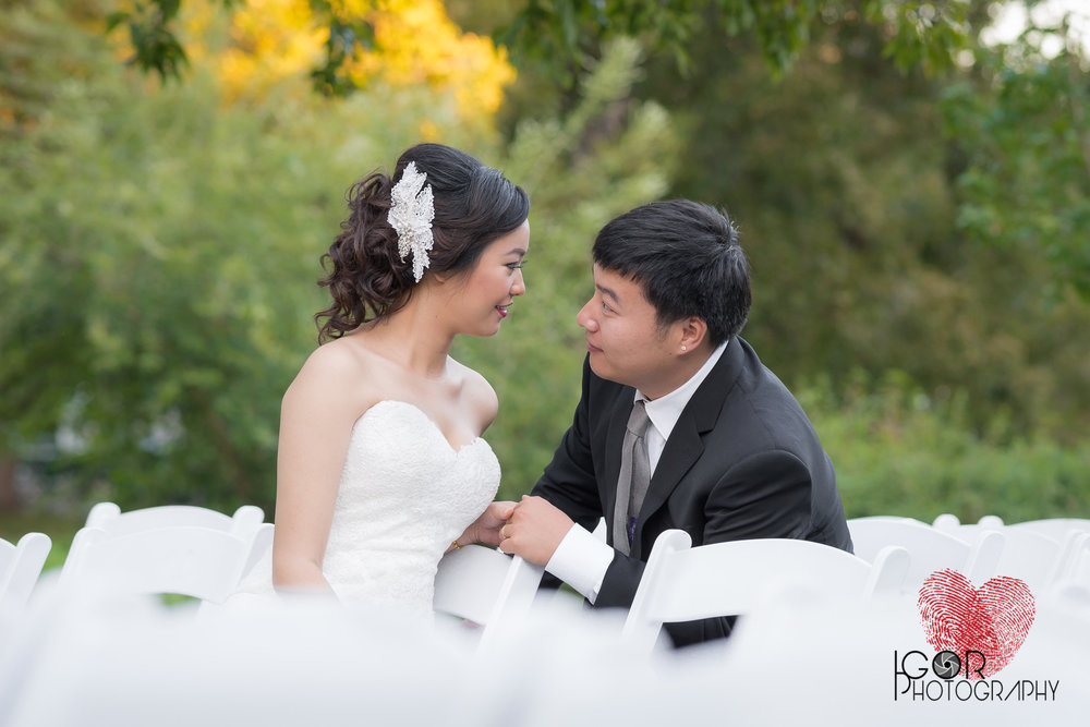 Asian wedding couple