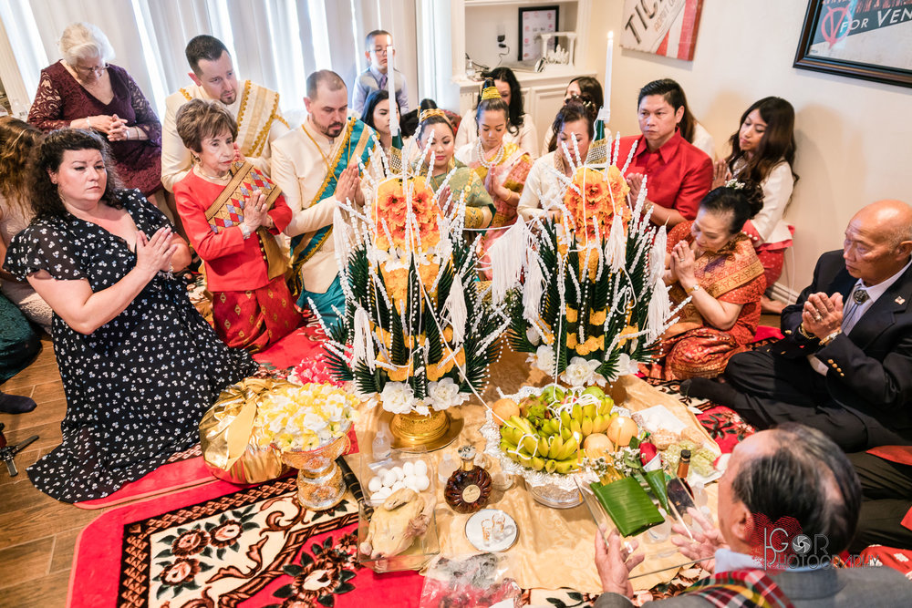 Laos wedding ceremony