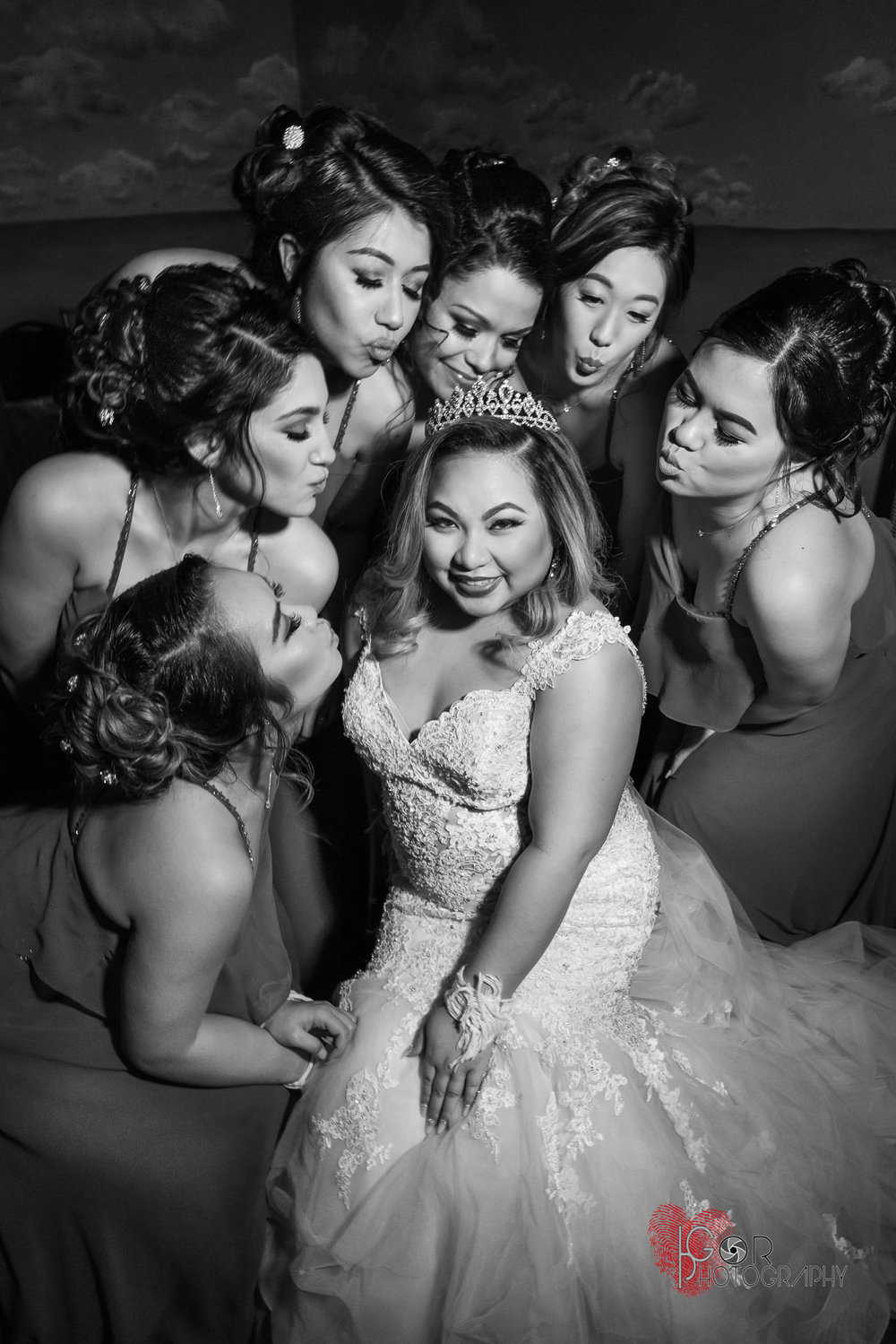 Bridal party portrait in Irving