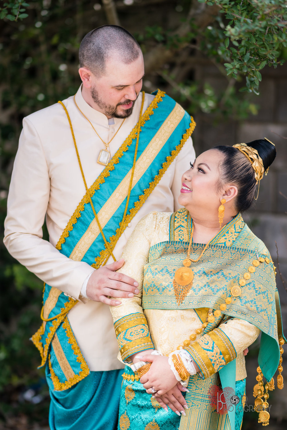 Traditional Laotian Wedding Outfit
