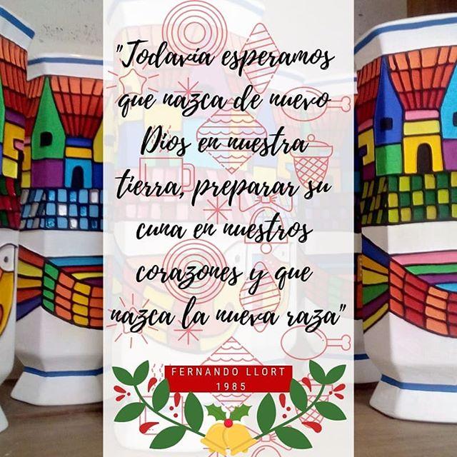 En esta navidad queremos compartir contigo algunas frases de nuestro gran artista Fernando Llort Luzcamonos en estas fiestas regalando productos nuestros, elaborados por manos salvadoreñas y con los diseños que se han convertido en cultura de nuestro país 🇸🇻✨